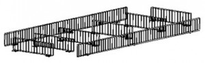 wire fencing for gondola shelves and retail store fixtures