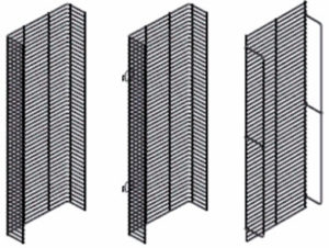 gondola shelf wire wing panels from Midwest Retail Services