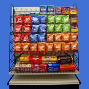 wire candy and snack racks